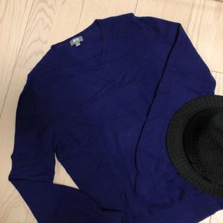 ユニクロ(UNIQLO)のちよさん専用★カシミヤ100% パープル セーター 美品(ニット/セーター)