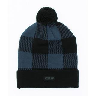 ナイキ(NIKE)のユニセックス ナイキ バッファローチェック ブルー×ブラック定価4320円(ニット帽/ビーニー)