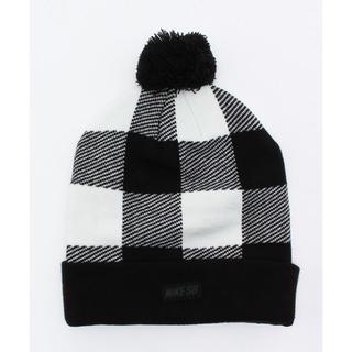 ナイキ(NIKE)のユニセックス ナイキ バッファローチェック ホワイト×ブラック定価4320円(ニット帽/ビーニー)