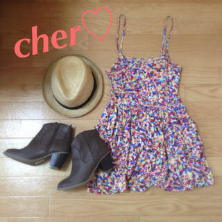 シェル(Cher)のcher ワンピース(ミニワンピース)