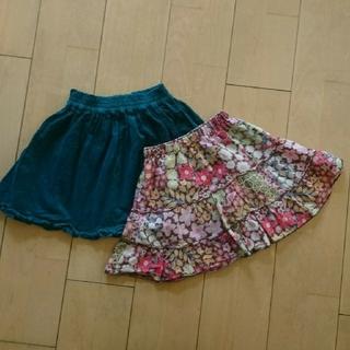 110㎝★ kai lani  ワンピリメイクスカート&グリーンフリルスカート