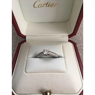 カルティエ(Cartier)の【美品】カルティエ ソリテール リング(リング(指輪))