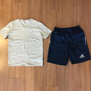 アディダス(adidas)のトミーTシャツ&adidasショートパンツ150㎝(Tシャツ/カットソー)