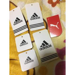 アディダス(adidas)のアディダス プーマ ロゴ タグ6枚セット ハンドメイド(各種パーツ)