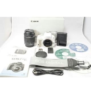 キヤノン(Canon)の新品級 キヤノン Canon kiss x7 18-55m ホワイト(デジタル一眼)
