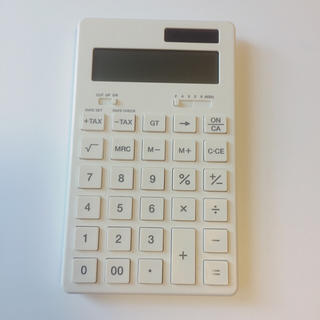 ムジルシリョウヒン(MUJI (無印良品))の無印良品 電卓(オフィス用品一般)