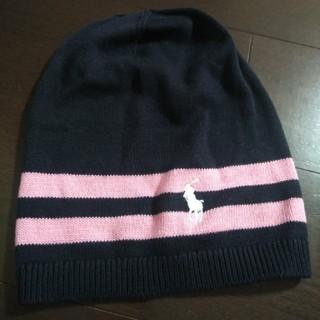 ラルフローレン(Ralph Lauren)のラルフローレン紺色ニット帽(ニット帽/ビーニー)