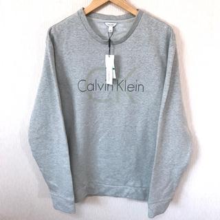 カルバンクライン(Calvin Klein)の新品 ユルダラ♪ カルバン クライン ロゴスウェット L XL相当 グレー (スウェット)