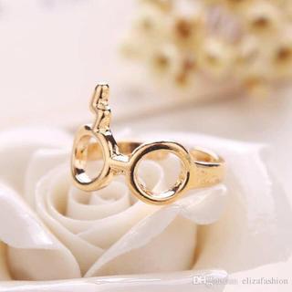 ハリーポッター リング メガネ 稲妻 指輪 ハリポタ メンズ レディース(リング(指輪))