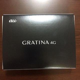 キョウセラ(京セラ)のau GRATINA 4G ブラック 新品未使用(携帯電話本体)