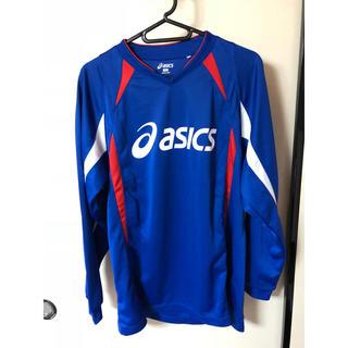アシックス(asics)のアシックス ゲームシャツ  Mサイズ ブルー(ウェア)