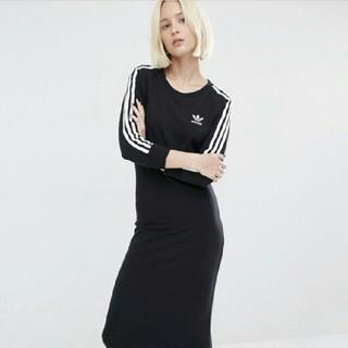 アディダス(adidas)の【Lサイズ】新品タグ付き adidas アディダス  ワンピース ブラック(ロングワンピース/マキシワンピース)