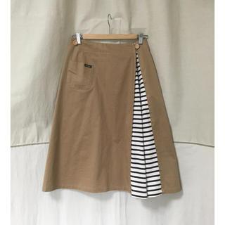 ルミノア(Le Minor)のLe Minor  ルミノア   チノスカート ボーダー 巻きスカート風 (ロングスカート)