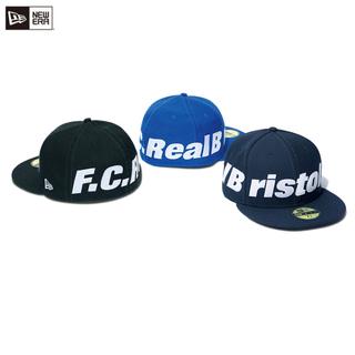 エフシーアールビー(F.C.R.B.)の黒L 59.6cm fcrb 18ss ニューエラ キャップ 帽子 新品 ソフ(キャップ)