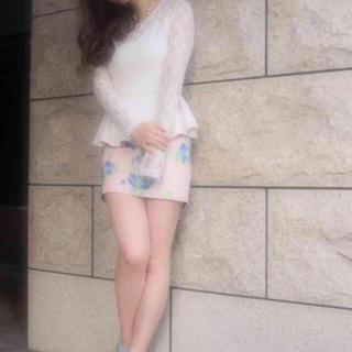 マーキュリーデュオ(MERCURYDUO)の美品 MERCURY DUO フラワー柄タイトスカート (ミニスカート)