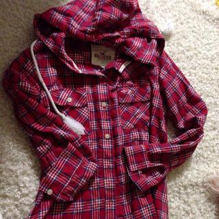 ホリスター(Hollister)のホリスター*チェックフード付きシャツ(シャツ/ブラウス(長袖/七分))