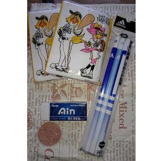 アディダス(adidas)の新品☆2B鉛筆、消しゴム、ポケットティッシュ(鉛筆)