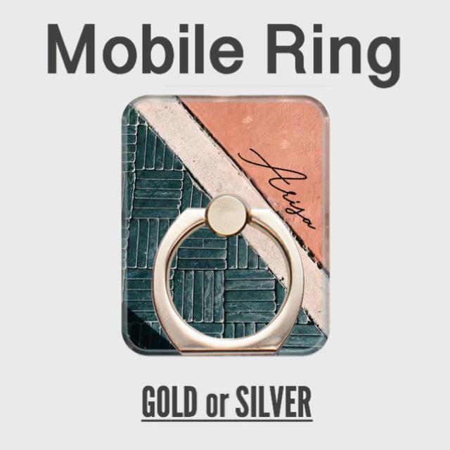 prada iphone8 ケース バンパー | 名前入り*Sea Tile柄スマホリング*アイリング*バンカーリングの通販 by welina mahalo|ラクマ