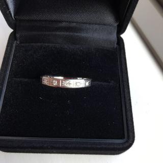 ミツコシ(三越)のプラチナ ダイヤモンドリング(リング(指輪))