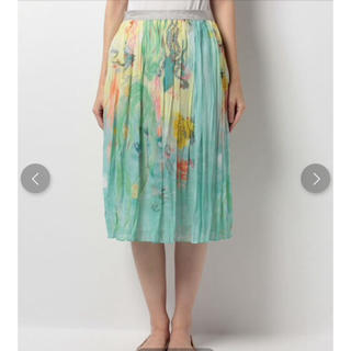ツモリチサト(TSUMORI CHISATO)の新品 定価38880円 ツモリチサト ⭐︎緊急値下げ❗️シルク100% スカート(ひざ丈スカート)