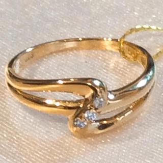 K18 天然 ダイヤモンド リング(リング(指輪))