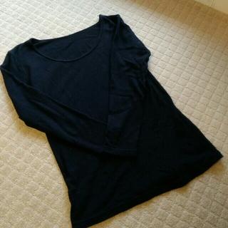 ムジルシリョウヒン(MUJI (無印良品))の無印良品 コットンウールスムースあったかネック8分袖Tシャツ M(アンダーシャツ/防寒インナー)