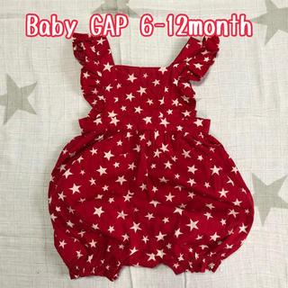 ベビーギャップ(babyGAP)の【USED】6-12month Baby GAP フリルロンパース(ロンパース)