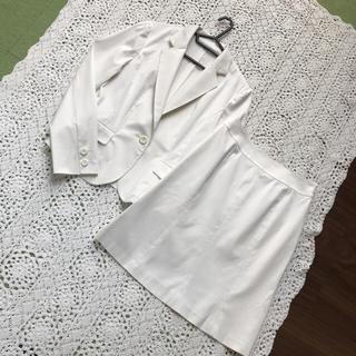 エフデ(ef-de)のエフデの上品美ライン白スーツ・セットアップ(スーツ)