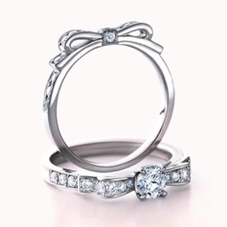 ヴァンドームアオヤマ(Vendome Aoyama)の美品♡ヴァンドーム青山 リボン リング(リング(指輪))
