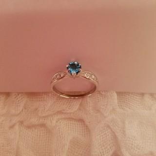 新品ロンドンブルートパーズ.指輪(リング(指輪))