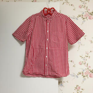 ジーユー(GU)のギンガムチェックシャツ♡(シャツ/ブラウス(半袖/袖なし))