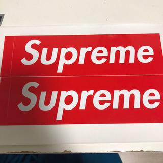 シュプリーム(Supreme)のSupreme ボックスロゴステッカー(しおり/ステッカー)
