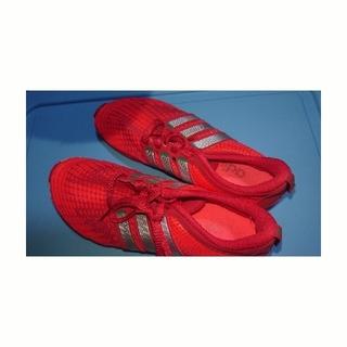 アディダス(adidas)のadidas ランニングシューズ オレンジ 24(シューズ)