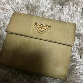 プラダ(PRADA)のPRADA 二つ折り財布 ベージュ(財布)