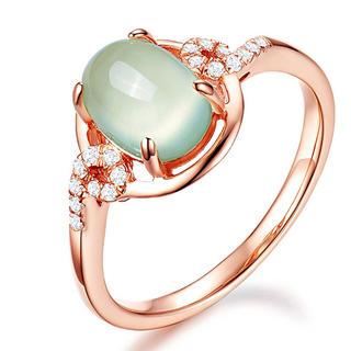 指輪 リング 18k金メッキ 人工宝石 ジルコニア  14号(グリーン)(リング(指輪))