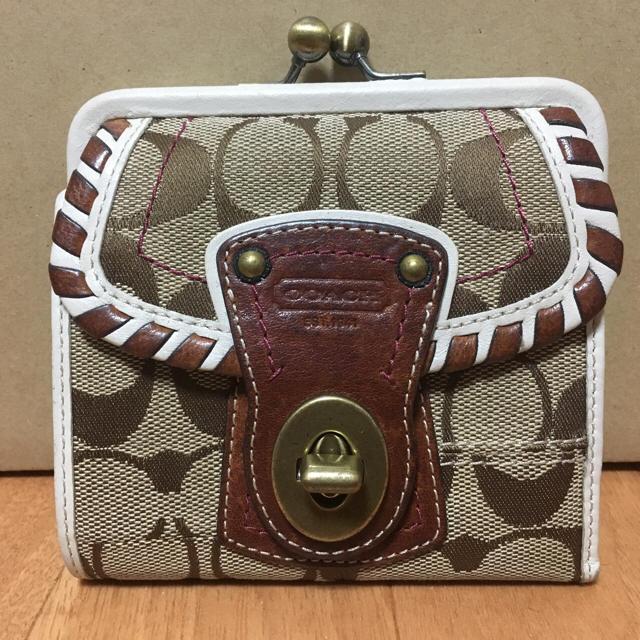 9eaaf7b2bf81 COACH - コーチ 二つ折り財布 がま口の通販 by RAS's shop|コーチならラクマ