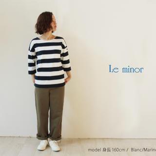 ドゥーズィエムクラス(DEUXIEME CLASSE)の【Le minor】ルミノア 太ボーダー7分袖カットソー(Tシャツ/カットソー(七分/長袖))
