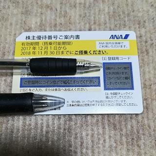 エーエヌエー(ゼンニッポンクウユ)(ANA(全日本空輸))のANA 株主優待 割引券 1枚(航空券)