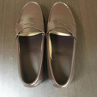 ムジルシリョウヒン(MUJI (無印良品))の無印良品 レザーローファー 23.5(ローファー/革靴)