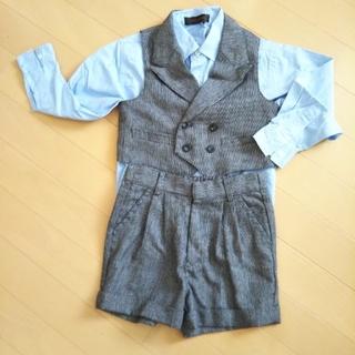 バレンティーニ(VALENTINI)の100cm 男の子 ベスト スーツ 入園式に♡(ドレス/フォーマル)