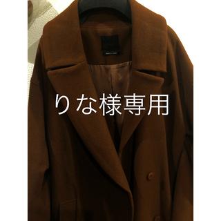 アウラアイラ(AULA AILA)のAULA アウラ 今期のドロップカラーオーバーサイズデザインコート♡(ロングコート)
