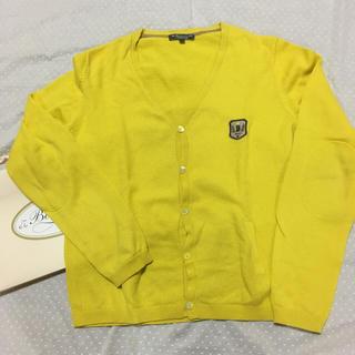 ボンポワン(Bonpoint)のボンポワン 黄色Vネックカーディガン 男の子 14歳 BONPOINT(カーディガン)