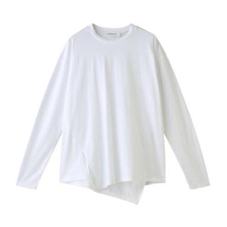 エンフォルド(ENFOLD)の【希少】スビン天竺アシンメトリーTシャツ(Tシャツ(長袖/七分))