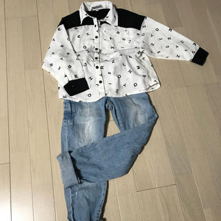 シマムラ(しまむら)のシフォンシャツ とろみシャツ  ZARA GU (ブラウス)