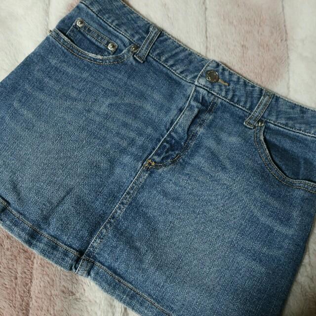 Avail(アベイル)の★Avail バックロゴデニムスカート★ レディースのスカート(ミニスカート)の商品写真