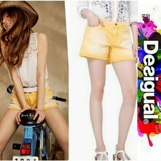 デシグアル(DESIGUAL)の⚜️新品未使用⚜️タグ付き Desigual イエロー ショートパンツ(ショートパンツ)