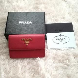 25c97e5b1246 プラダ(PRADA)のPRADA サフィアーノ ピンク カードケース (名刺入れ/定期入れ