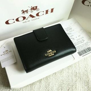 コーチ(COACH)のCOACH長財布 コーチ正規品 F53436 ブラック 二つ折り財布 女性用財布(財布)
