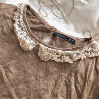 アトモスフィア(ATMOSPHERE)のビジュウついてるセーター (ニット/セーター)