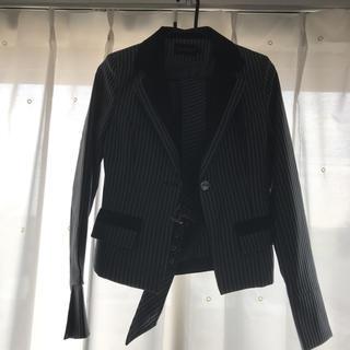 ジュエルズ(JEWELS)のロイヤルチーパー黒セットアップスーツSサイズベルトつき(スーツ)